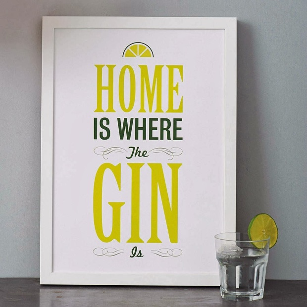gin and tonic print