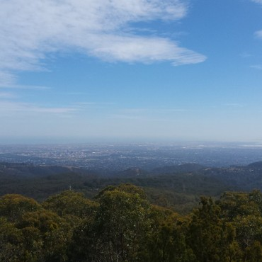 The view from the top of Mt Lofty - not too shabby at all!
